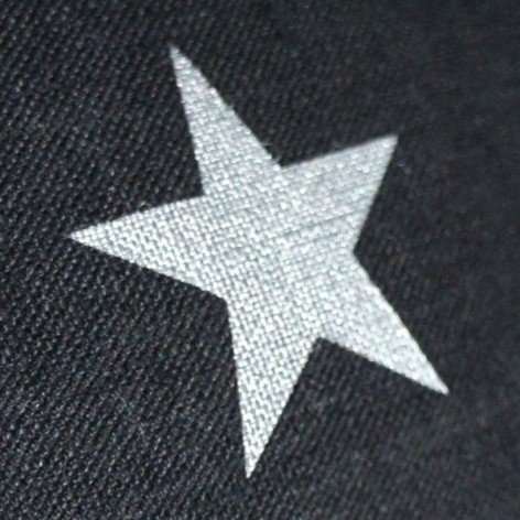 coussin lin noir motif étoile