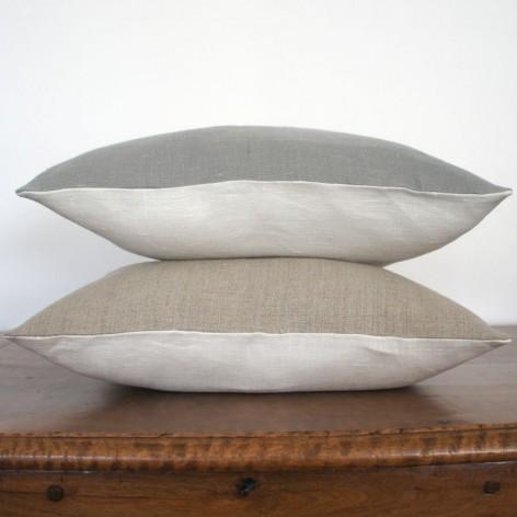 Coussin en lin bicolore 40x40 cm