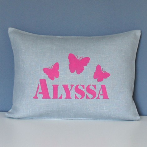 COUSSIN PERSONNALISE PAPILLONS