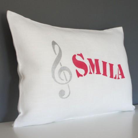 Coussin personnalisé musique : cadeau bébé personnalisé