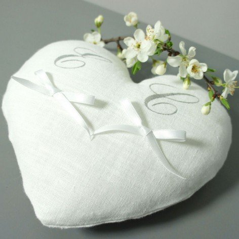 coussin alliance forme coeur