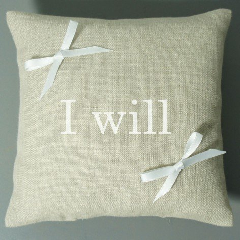 Coussin d'alliances I Will