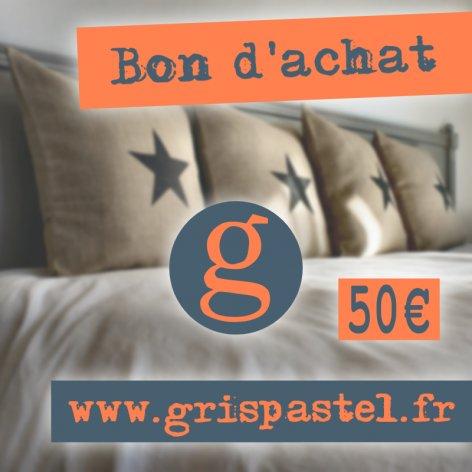 Bon d'achat 50 euros chez Gris Pastel