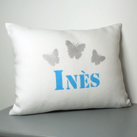 COUSSIN PRENOM PAPILLONS