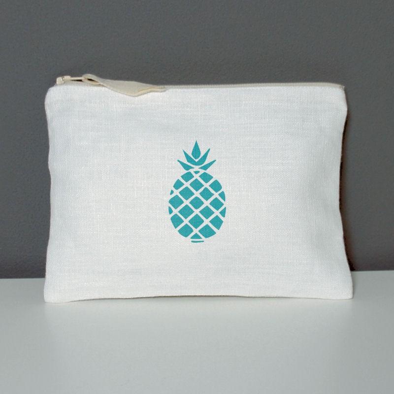 trousse motif ananas