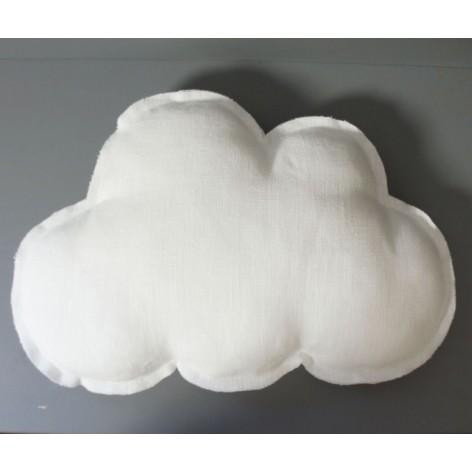 coussin nuage bébé et enfant en lin