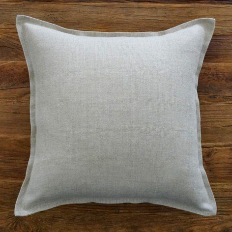 coussin lin volant plat