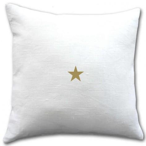 housse coussin lin 40x40 cm motif étoile