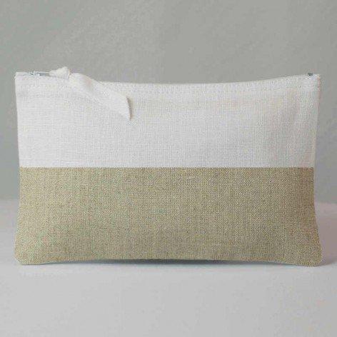 Pochette bicolore blanc