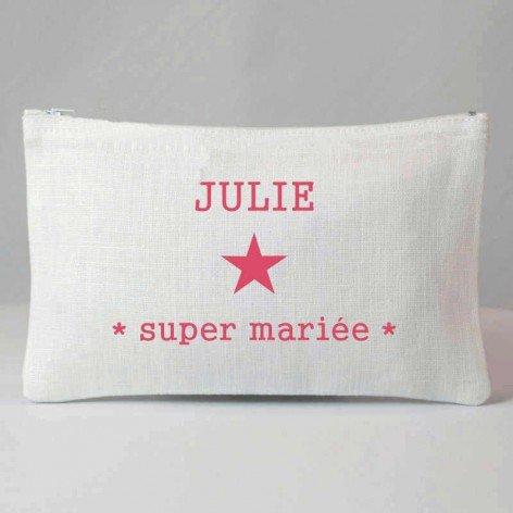 Pochette Super mariée personnalisée - Nombreux coloris