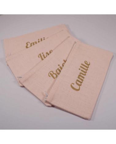 pochette personnalisée prénom cadeau demoiselle d'honneur