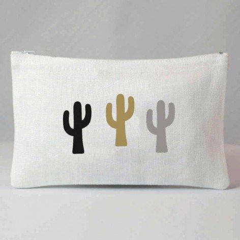 Pochette cactus tricolores