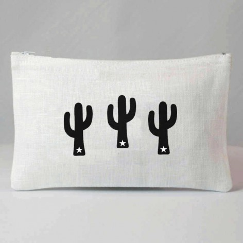 pochette femme motif cactus
