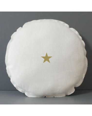 COUSSIN ROND ETOILE DOREE