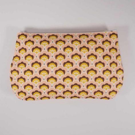 pochette tissu coquillage