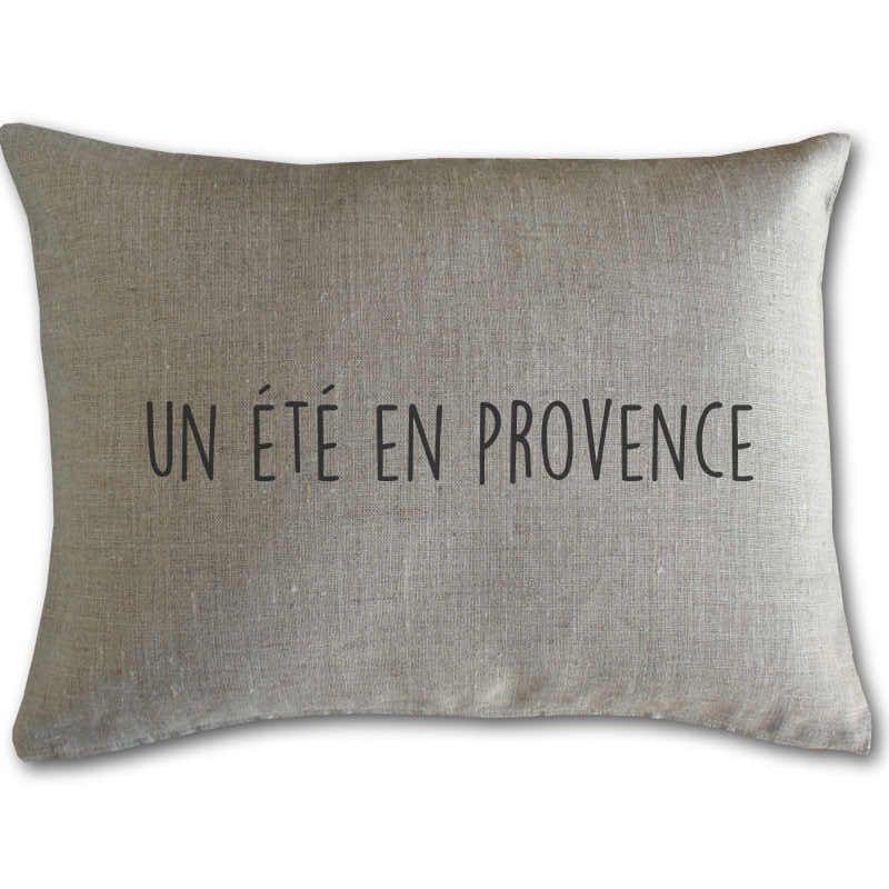 Coussin lin inscription Un été en Provence