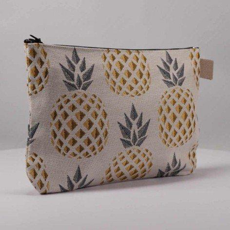 cadeau femme pochette ananas doré