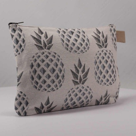 Pochette-tissu-ananas-argenté