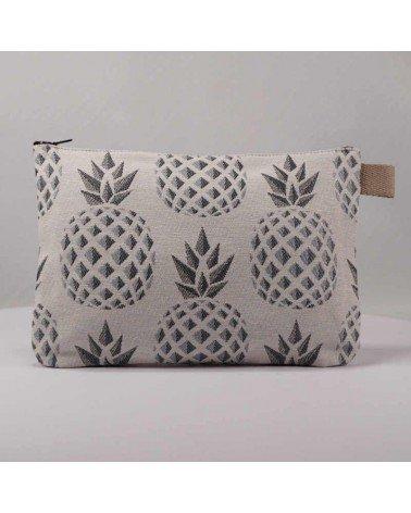 Pochette ananas argenté