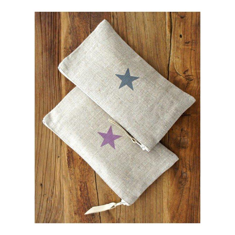 trousse motif étoile
