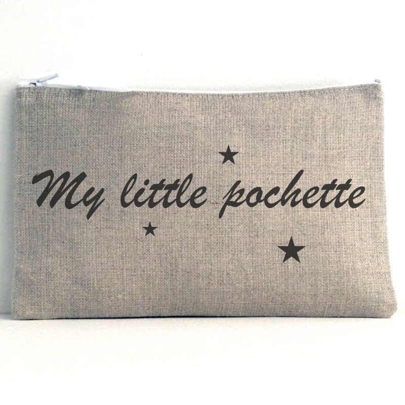 pochette en tissu my little pochette trousse maquillage de toilette. Black Bedroom Furniture Sets. Home Design Ideas