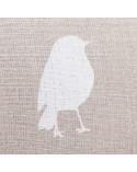 Coussin lin motif oiseaux
