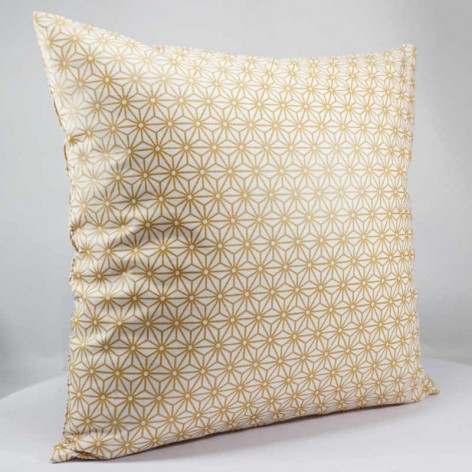Housse de coussin - Motif japonais - doré - 40x40 cm