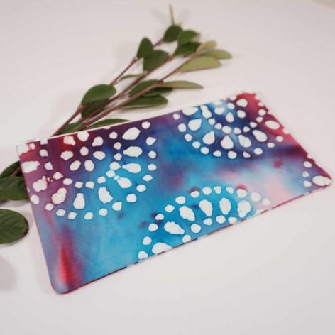 pochette femme tissu tye and dye