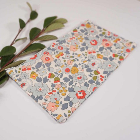 Trousse maquillage fleurie Liberty Betsy porcelaine