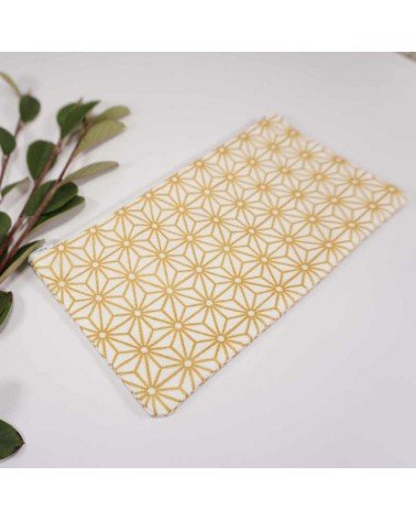 Pochette tissu japonais doré