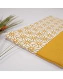 Trousse maquillage tissu motif japonais