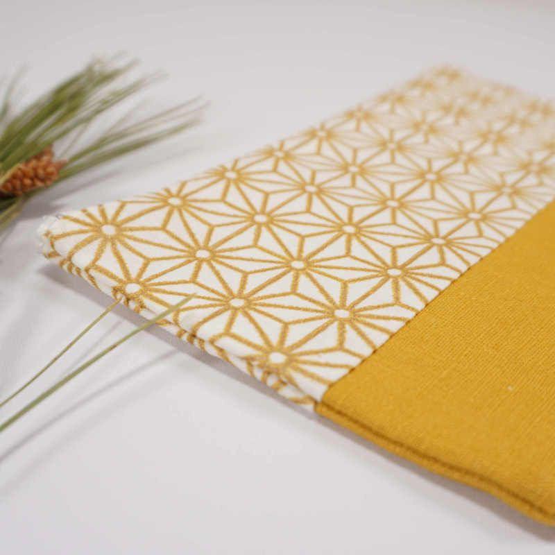 Pochette plate motif japonais