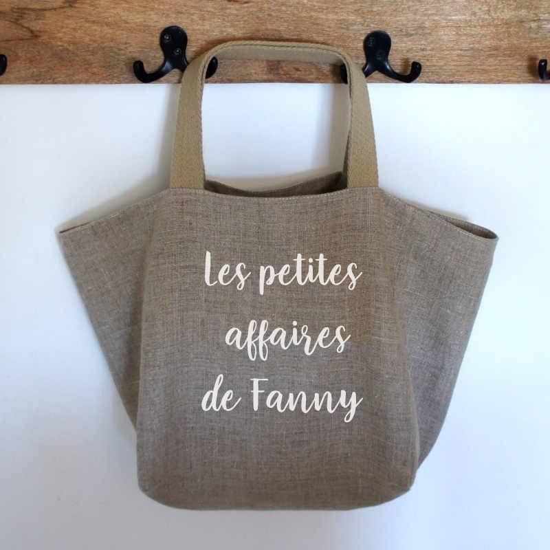 sac cabas personnalisé en lin