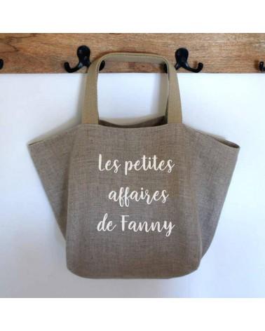 sac cabas personnalisable en lin, sac personnalisé