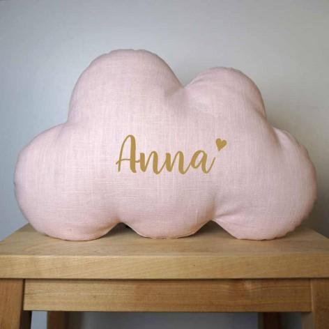 Cadeau baby shower - Coussin nuage personnalisé