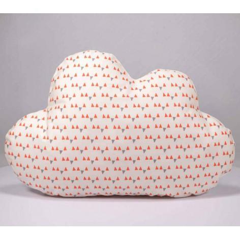 Coussin nuage motifs triangles déco chambre enfant