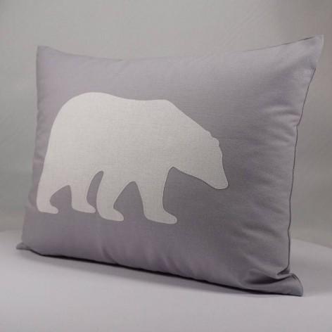 Coussin ours polaire blanc pour chambre enfant