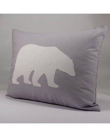 Coussin chambre garçon - ours polaire blanc