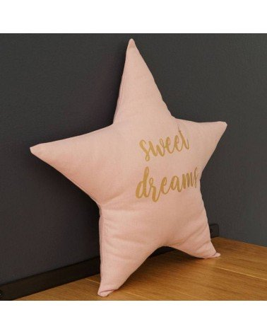 Coussin étoile rose chambre bébé et enfant