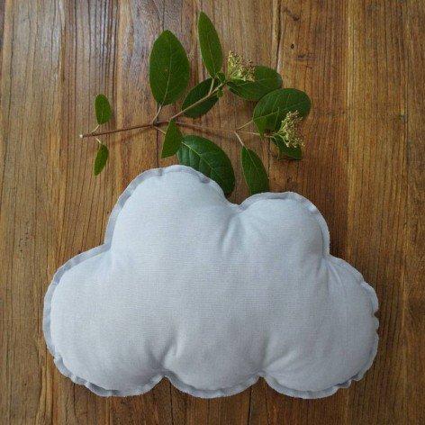 Coussin nuage gris pour chambre enfant
