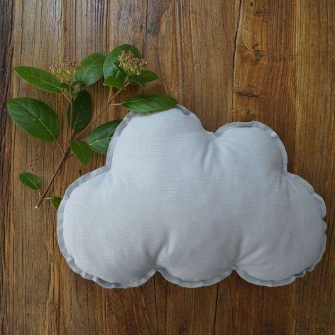 Coussin nuage gris