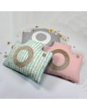 Coussin chambre bébé - Appareil photo rose