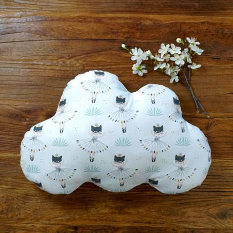 Coussin nuage chambre bébé - motif danseuses
