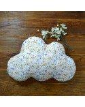 Coussin nuage enfant imprimé fleurs