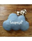 Coussin nuage personnalisé prénom - motif pois
