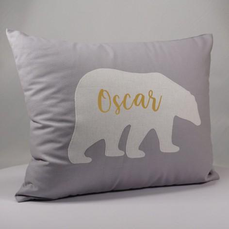 Coussin personnalisé prénom ours