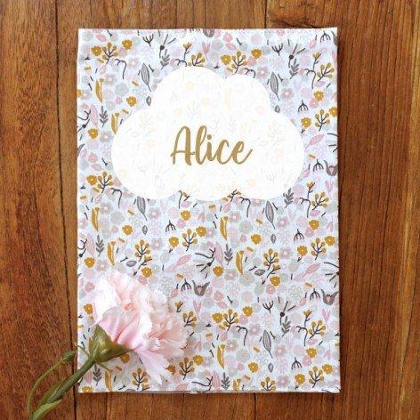 Protège carnet de santé fleurs