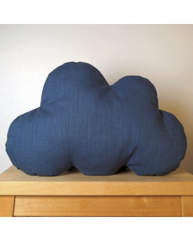 Coussin nuage bleu