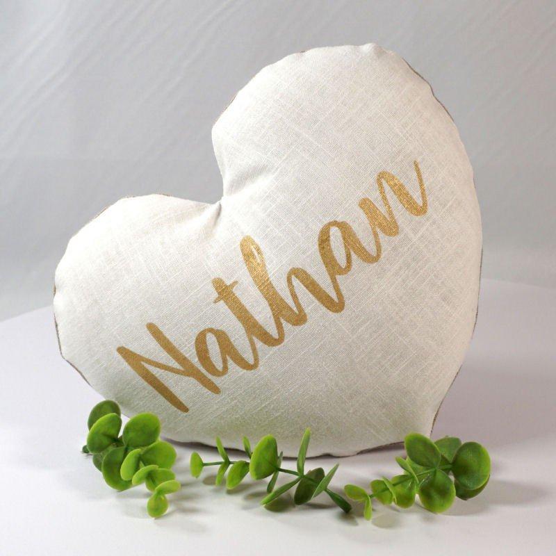Coussin coeur personnalisé, saint valentin