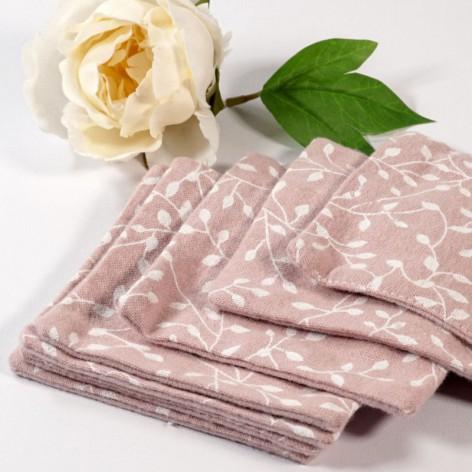 Lingettes lavables en flanelle de coton